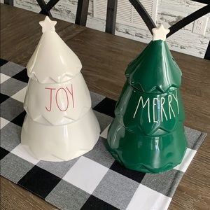 Rae Dunn JOY & MERRY Tree Cookie Canister NEW!!!